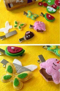 Make cute hair clips for kids
