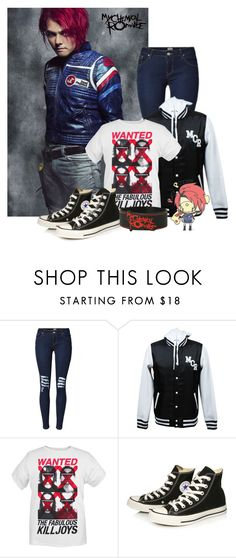 """""""My Chemical Romance"""" by ava-l-r ❤ liked on Polyvore featuring Converse"""