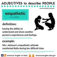 Adjectives to describe people: empathetic