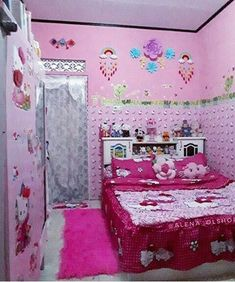 house design and architecture consultant. Hello Kitty Bedroom, Hello Kitty House, Cute Bedroom Decor, Mattress On Floor, Modern Minimalist Living Room, My House Plans, Kawaii Room, Cool Rooms, Girls Bedroom