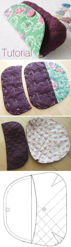 Quilted Sunglass / Eyeglass Case Tutorial - Famous Last Words Sewing Basics, Sewing Hacks, Sewing Tutorials, Sewing Crafts, Sewing Projects, Sewing Patterns, Sewing Diy, Tape Crafts, Quilting Tutorials