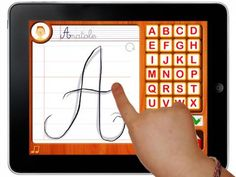 Appysmarts - Cursive & joined-up writing with Anatole Teaching Cursive Writing, Cursive Writing Worksheets, Alphabet Worksheets, Learning Cursive, Learning Apps, Kids Learning, Autism In Adults, Letter To Teacher, Cursive Alphabet