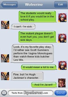 texts from superheroes - Google Search
