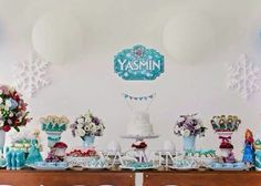 Decoration party ideas rustic Frozen - Decoração rustica fofa para festa Frozen