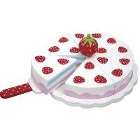 Leksaksmat - Tårta i trä - Jordgubb   http://www.blaelefant.se/sv/artiklar/tarta-i-tra-jordgubb.html