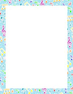 Printable music notes border. Free GIF, JPG, PDF, and PNG downloads at http://pageborders.org/download/music-notes-border/