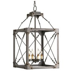 Currey and Company 9139 Salvage 4 Light Lantern