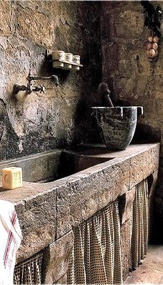 old cottage scullery