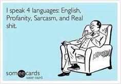 Funny ecard - I speak 4 languages - http://jokideo.com/funny-ecard-i-speak-4-languages/
