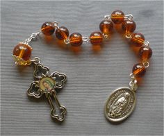 Handmade Our Lady of Guadalupe 8mm Orange by JaysReligiousGifts