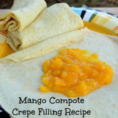 Mango Compote Crepe Filling Recipe by Nataha Nibble & Noshes