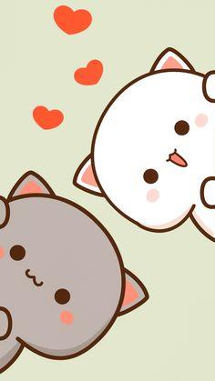 Cute Anime Cat, Cute Bunny Cartoon, Cute Cartoon Images, Cute Kawaii Animals, Cute Love Cartoons, Cute Cartoon Wallpapers, Cute Christmas Wallpaper, Cute Cat Wallpaper, Bear Wallpaper
