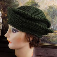 olive green flapper hat http://www.etsy.com/listing/105259829/crochet-couture-brown-1920s-flapper