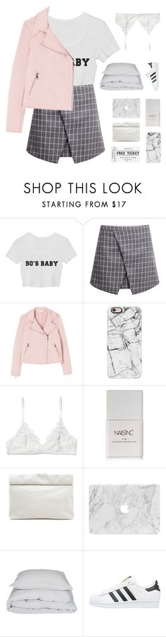 """""""lua"""" by nothing-like-the-rain ❤ liked on Polyvore featuring Rebecca Taylor, Casetify, Monki, Nails Inc., Marie Turnor, By Nord and adidas Originals"""