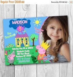 DIGITAL FILE  Peppa Pig Invitation  Peppa Pig by CuteInvitation1