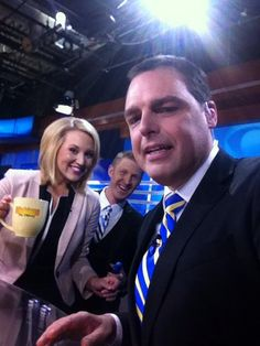 Took 9&10 Adam Bartelmay a couple of tries to get this group shot...he's filling in for a couple of weeks! Happy Thursday from all of us here on Michigan this Morning! #910News - Sara Simnitch 7.17.14
