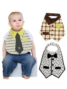 Dude Babies! Bib Sewing Pattern by Vanilla House Design