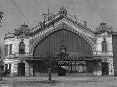 Estación Pirque en Mayo de 1929, estaba ubicada en Bustamante con Providencia, funcionó hasta 1941 y posteriormente fue demolida.