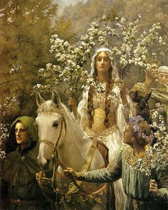 """Guinevere A'Maying"" -John Collier"