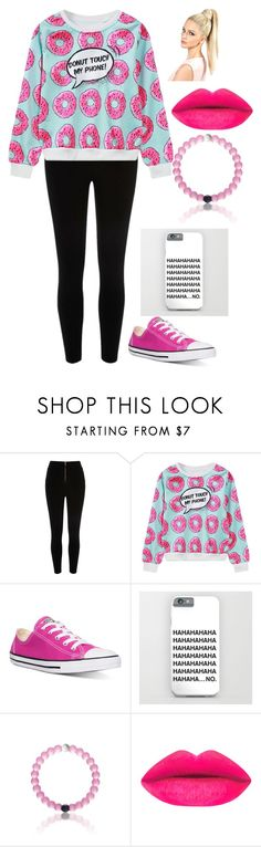 """donut"" by chooseyourstyle321 on Polyvore featuring River Island, WithChic, Converse, women's clothing, women's fashion, women, female, woman, misses and juniors"