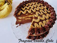 Raw Banana Mocha Caramel Mousse Cake @FragrantVanillaCake
