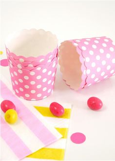 Caissettes Cupcake en Carton à Pois