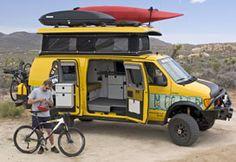 Sportsmobile Custom Camper Vans - Sportsmobile 4x4 Ultimate Adventure Vehicle. I want one!