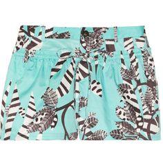 Thakoon Addition Printed stretch-cotton shorts ($330) via Polyvore