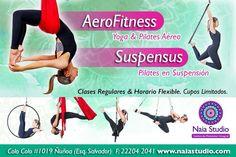 @aerofitness y @suspensus, clases exclusivas de NAIA Studio de entrenamiento aéreo. Clases regulares y horarios flexibles. Www.naiastudio.com