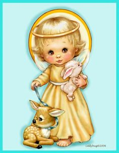 """""""November Angel""""-Copyrighted design from Ladybug Angel Images, Images Vintage, Angels In Heaven, Heavenly Angels, Angels Among Us, Sarah Kay, Precious Children, Vintage Christmas Cards, Christmas Pictures"""