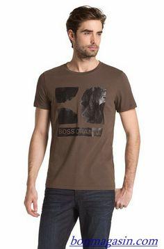 Vendre Pas Cher Homme Hugo Boss Tee Shirts H0121 En ligne En France.