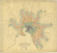 """""""Minimum Railway or Tramway Time Zones,"""" from 20th-century Melbourne."""