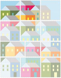 Pretty Little Quilts: Hillside Houses Blocks 10 and 11