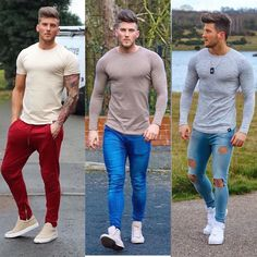 or 3 all outfits sporting clothing (besides the jeans) 🤘🏼 Elegant Casual Men, Men Casual, Camisa Lisa, Urban Fashion, Mens Fashion, Man Dressing Style, Look Man, Herren Outfit, Casual Outfits