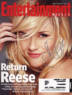 Rare Reese Witherspoon Autograph Hand Signed Entertainment Weekly Magazine