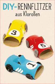 These fast cars are unstoppable! And just as fast as they are under … - Crafts for Teens Crafts For Teens, Diy For Kids, Diy And Crafts, Diy Craft Projects, Projects For Kids, Auto Party, Race Party, Toilet Paper Crafts, Diy Cadeau