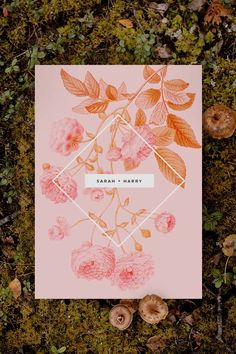 Stunning green botanical Wedding Invitation by Sail and Swan Studio. The design features a Woodland Theme Wedding, Woodland Wedding Inspiration, Pink Wedding Theme, Spring Wedding Inspiration, Pink Wedding Decorations, Botanical Wedding Invitations, Garden Wedding, Swan, Wedding Styles