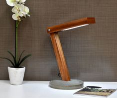 LED Concrete Desk Lamp