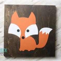 Woodland Nursery, Fox decor, Handcrafted Wood Sign, Woodland baby shower…