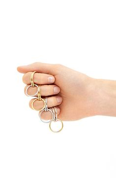 Three Lovers Linked Rings by Charlotte Chesnais for Preorder on Moda Operandi
