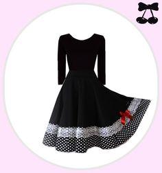 "Dress ""Pinup"" from Black Cherrys Store® by DaWanda.com"