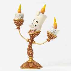 "Lumiere is here to light the way! ""OH LA LA!"" - LUMIERE FIGURINE Jim Shore Disney Traditions #Disney #JimShore"
