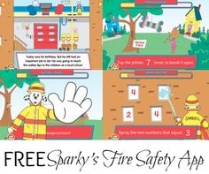 Free Sparkys Birthday Surprise App Fire Safety Week Starts On Octboer