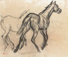 Horses by Edgar Degas