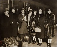 Fashion Influences: Sergei Diaghilev Ballets Russes. Diaghilev and his dancers, Liverpool, 1928