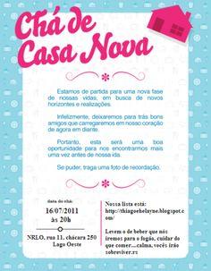 25 Convites Criativos Para Chá De Casa De Nova Continue Vendo