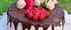 Recept Narozeninový malinový dort Raw Food Recipes, Tiramisu, Cheesecake, Food And Drink, Birthday Cake, Drinks, Ethnic Recipes, Desserts, Cakes