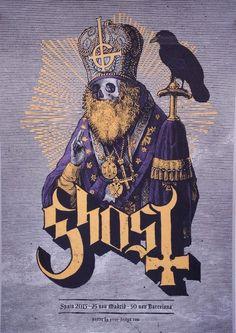 Ghost - Spanish Concert Poster - Error-Design - http://error-design.com/v7/