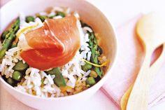 Rice Recipe: Lemon rice with prosciutto recipe