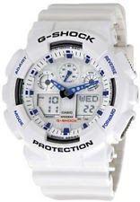 Casio Men's GA100A-7 G-Shock X-Large Analog-Digital White Sports Watch